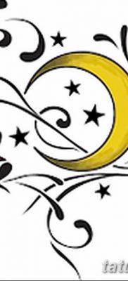 фото тату полумесяц со звездой от 26.06.2018 №079 – tattoo crescent with a – tatufoto.com