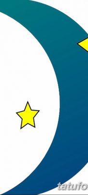 фото тату полумесяц со звездой от 26.06.2018 №081 – tattoo crescent with a – tatufoto.com