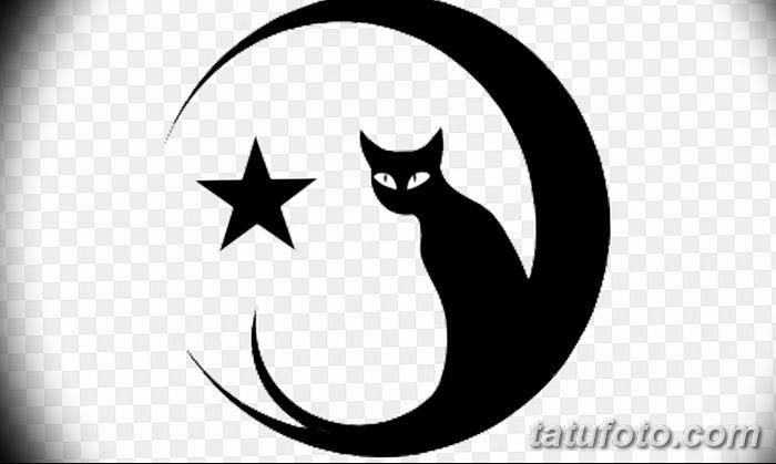 фото тату полумесяц со звездой от 26.06.2018 №083 - tattoo crescent with a - tatufoto.com