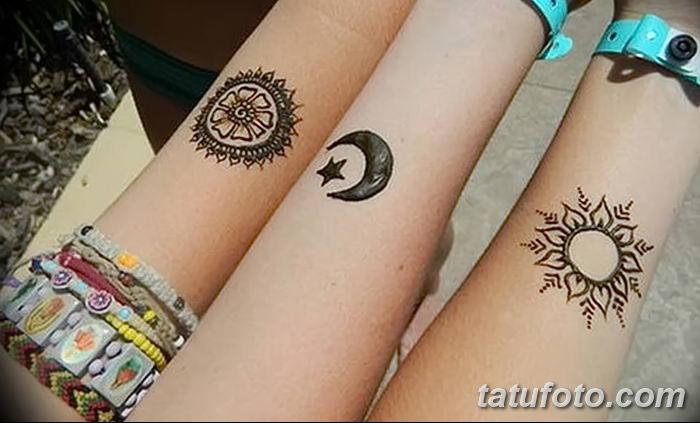фото тату полумесяц со звездой от 26.06.2018 №097 - tattoo crescent with a - tatufoto.com