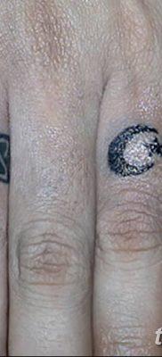 фото тату полумесяц со звездой от 26.06.2018 №120 – tattoo crescent with a – tatufoto.com