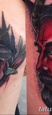 Фото тату Сатана от 31.07.2018 №007 – tattoo of Satan – tatufoto.com
