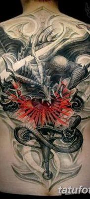 Фото тату Сатана от 31.07.2018 №016 – tattoo of Satan – tatufoto.com