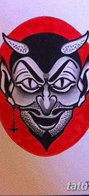 Фото тату Сатана от 31.07.2018 №022 – tattoo of Satan – tatufoto.com