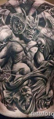 Фото тату Сатана от 31.07.2018 №037 – tattoo of Satan – tatufoto.com