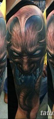Фото тату Сатана от 31.07.2018 №038 – tattoo of Satan – tatufoto.com
