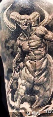 Фото тату Сатана от 31.07.2018 №085 – tattoo of Satan – tatufoto.com