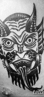 Фото тату Сатана от 31.07.2018 №101 – tattoo of Satan – tatufoto.com