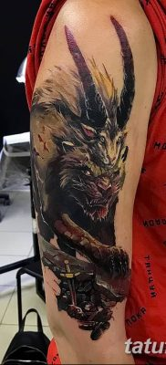 Фото тату мантикора от 31.07.2018 №032 – tattoo manticore – tatufoto.com