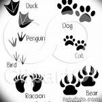Эскизы тату кошачьи следы от 31.07.2018 №010 - Sketches tattoo cat tracks - tatufoto.com