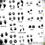 Эскизы тату кошачьи следы от 31.07.2018 №020 - Sketches tattoo cat tracks - tatufoto.com