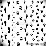 Эскизы тату кошачьи следы от 31.07.2018 №023 - Sketches tattoo cat tracks - tatufoto.com