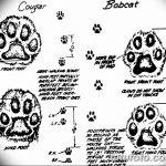 Эскизы тату кошачьи следы от 31.07.2018 №027 - Sketches tattoo cat tracks - tatufoto.com