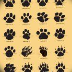 Эскизы тату кошачьи следы от 31.07.2018 №029 - Sketches tattoo cat tracks - tatufoto.com