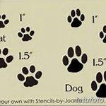 Эскизы тату кошачьи следы от 31.07.2018 №032 - Sketches tattoo cat tracks - tatufoto.com