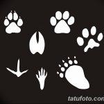 Эскизы тату кошачьи следы от 31.07.2018 №033 - Sketches tattoo cat tracks - tatufoto.com