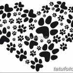 Эскизы тату кошачьи следы от 31.07.2018 №037 - Sketches tattoo cat tracks - tatufoto.com