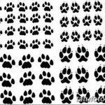 Эскизы тату кошачьи следы от 31.07.2018 №042 - Sketches tattoo cat tracks - tatufoto.com