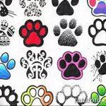 Эскизы тату кошачьи следы от 31.07.2018 №044 - Sketches tattoo cat tracks - tatufoto.com