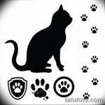 Эскизы тату кошачьи следы от 31.07.2018 №047 - Sketches tattoo cat tracks - tatufoto.com