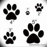 Эскизы тату кошачьи следы от 31.07.2018 №050 - Sketches tattoo cat tracks - tatufoto.com