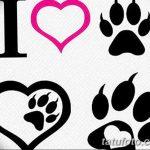 Эскизы тату кошачьи следы от 31.07.2018 №054 - Sketches tattoo cat tracks - tatufoto.com