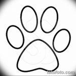 Эскизы тату кошачьи следы от 31.07.2018 №058 - Sketches tattoo cat tracks - tatufoto.com
