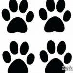 Эскизы тату кошачьи следы от 31.07.2018 №060 - Sketches tattoo cat tracks - tatufoto.com