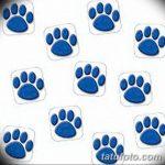 Эскизы тату кошачьи следы от 31.07.2018 №061 - Sketches tattoo cat tracks - tatufoto.com