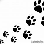 Эскизы тату кошачьи следы от 31.07.2018 №066 - Sketches tattoo cat tracks - tatufoto.com