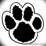 Эскизы тату кошачьи следы от 31.07.2018 №067 - Sketches tattoo cat tracks - tatufoto.com