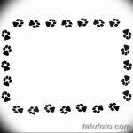 Эскизы тату кошачьи следы от 31.07.2018 №071 - Sketches tattoo cat tracks - tatufoto.com