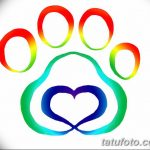 Эскизы тату кошачьи следы от 31.07.2018 №076 - Sketches tattoo cat tracks - tatufoto.com