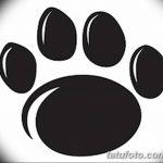 Эскизы тату кошачьи следы от 31.07.2018 №085 - Sketches tattoo cat tracks - tatufoto.com