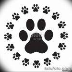 Эскизы тату кошачьи следы от 31.07.2018 №087 - Sketches tattoo cat tracks - tatufoto.com