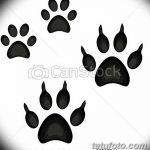 Эскизы тату кошачьи следы от 31.07.2018 №088 - Sketches tattoo cat tracks - tatufoto.com