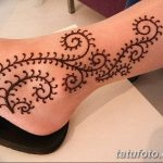 фото Мехенди на лодыжке от 13.07.2018 №101 - Mehendi on the ankle - tatufoto.com
