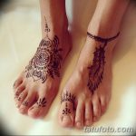фото Мехенди на лодыжке от 13.07.2018 №103 - Mehendi on the ankle - tatufoto.com