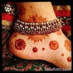 фото Мехенди на лодыжке от 13.07.2018 №104 - Mehendi on the ankle - tatufoto.com
