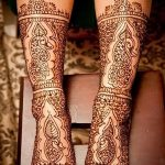 фото Мехенди на лодыжке от 13.07.2018 №106 - Mehendi on the ankle - tatufoto.com