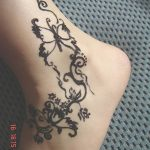 фото Мехенди на лодыжке от 13.07.2018 №107 - Mehendi on the ankle - tatufoto.com