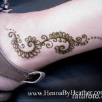 фото Мехенди на лодыжке от 13.07.2018 №108 - Mehendi on the ankle - tatufoto.com