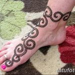 фото Мехенди на лодыжке от 13.07.2018 №110 - Mehendi on the ankle - tatufoto.com