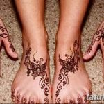 фото Мехенди на лодыжке от 13.07.2018 №111 - Mehendi on the ankle - tatufoto.com