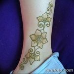 фото Мехенди на лодыжке от 13.07.2018 №113 - Mehendi on the ankle - tatufoto.com