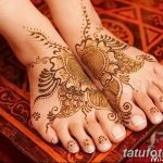 фото Мехенди на лодыжке от 13.07.2018 №115 - Mehendi on the ankle - tatufoto.com