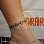 фото Мехенди на лодыжке от 13.07.2018 №116 - Mehendi on the ankle - tatufoto.com