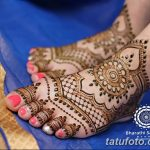 фото Мехенди на лодыжке от 13.07.2018 №119 - Mehendi on the ankle - tatufoto.com