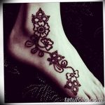 фото Мехенди на лодыжке от 13.07.2018 №120 - Mehendi on the ankle - tatufoto.com