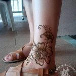фото Мехенди на лодыжке от 13.07.2018 №122 - Mehendi on the ankle - tatufoto.com